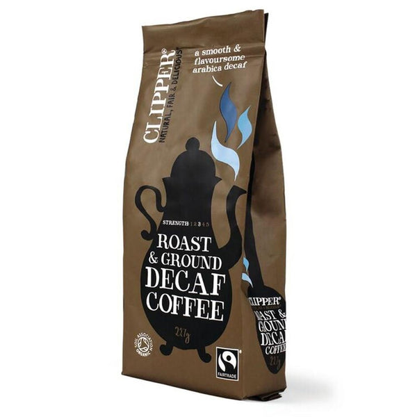 Clipper Fairtrade Decaf Organic 227g Coffee (Full Pack 8's)