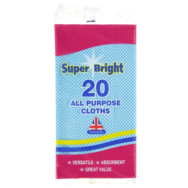 Super Bright All Purpose Cloths 20 Pack