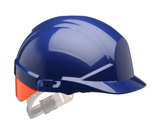 Centurion Reflex Blue Safety Helmet C/W Rear Orange or Yellow Flash