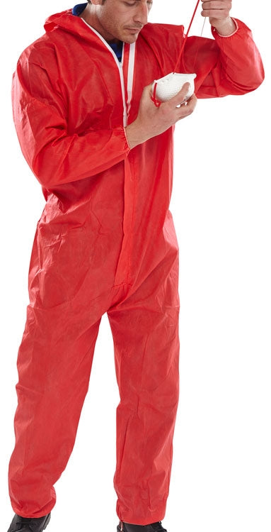B-Click Once Red Small Disposable Coverall