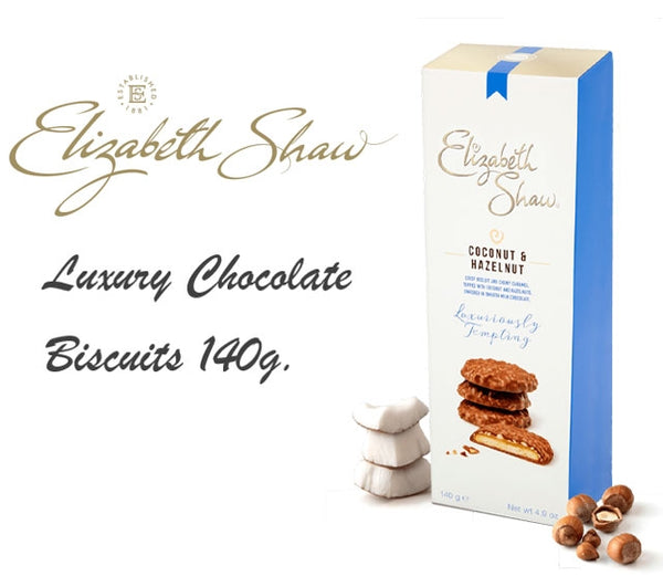 Elizabeth Shaw Luxury Coconut & Hazelnut Biscuits 140g