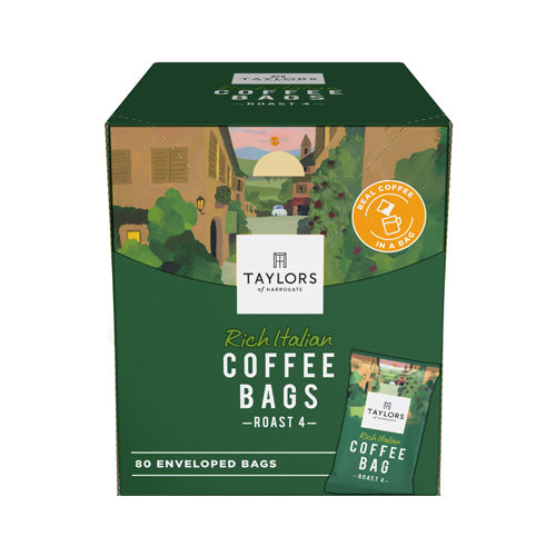 Taylors of Harrogate Rich Italian Coffee Bags Pack 80s