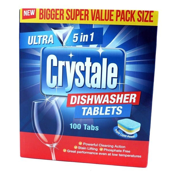 Crystale Dishwasher Tablets 100's