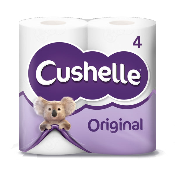 Cushelle 2ply Original Toilet Roll 4 Pack