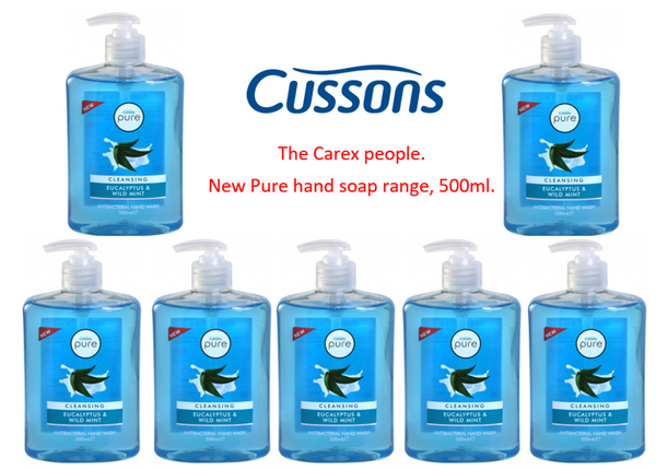 Cussons Pure Antibacterial Eucalyptus & Wild Mint 500ml (Full Pack 6's)