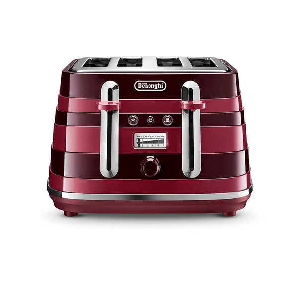 Delonghi Avvolta Class Red 4 Slice Toaster