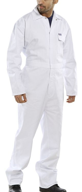 White Pre-Shrunk Boiler Suit  {All Sizes}