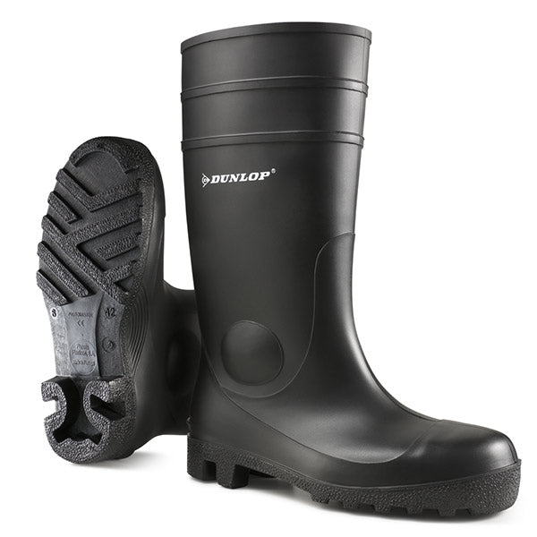 Dunlop Protomaster Safety Wellington Boots Black {All Sizes}
