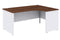 Duo 1800mm RH Ergonomic Desk - Walnut/White Code DUO18ER