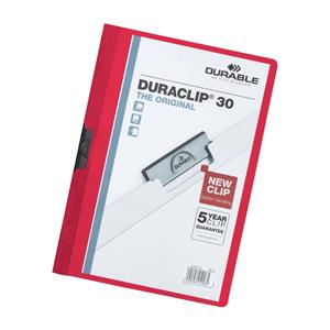 Durable Duraclip A4 Red Quotation Filing Folder Pack 25's