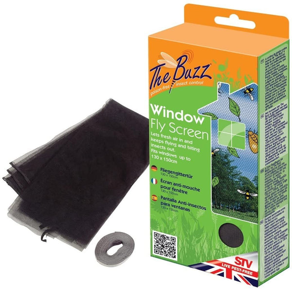 The Buzz Window Fly Screen 1.3x1.5m