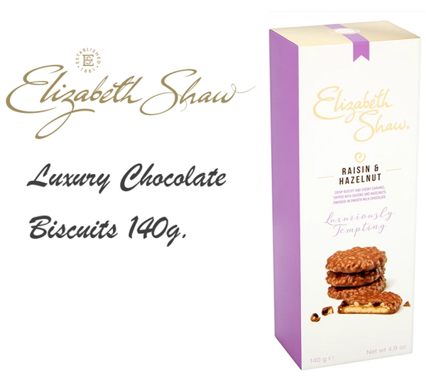 Elizabeth Shaw Raisin & Hazelnut Biscuits 140g