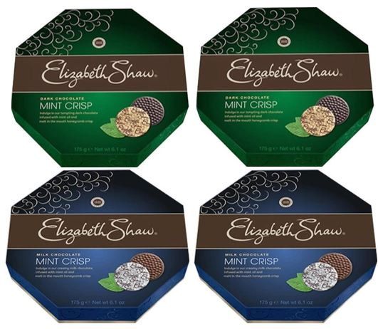 Elizabeth Shaw Milk Mint Wrapped Crisp Chocolates - 4 x  Pack's of 28 {112's}