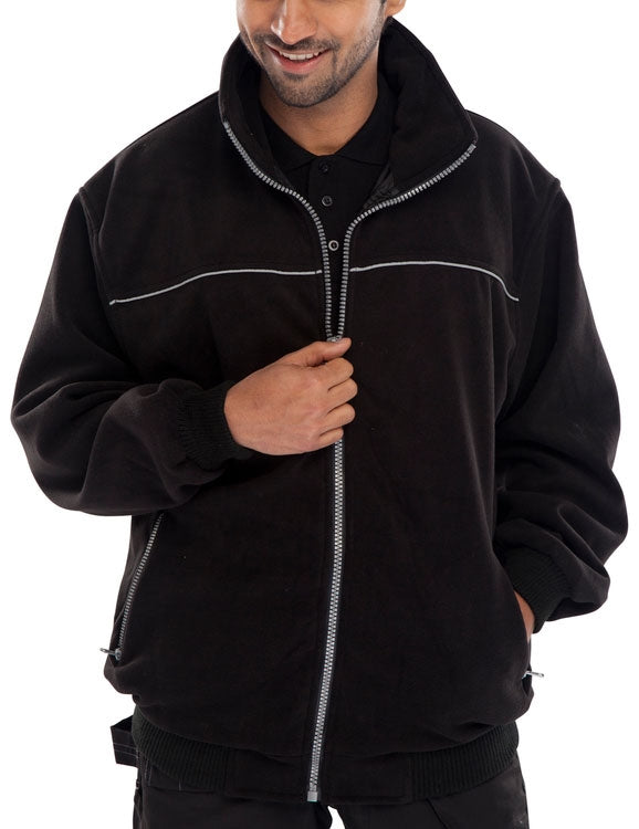 Endeavour Zipped Fleece BLACK {All Sizes}