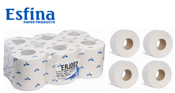 Esfina 2Ply Mini Jumbo Toilet Roll's x 36 { CHSA certified}