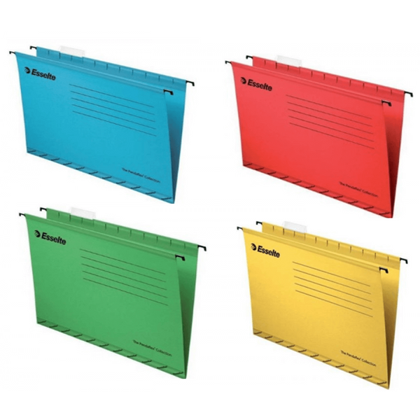Esselte Pendaflex Foolscap Blue/Yellow/Red/Green Suspension Files {Pack 100} Mixed offer price