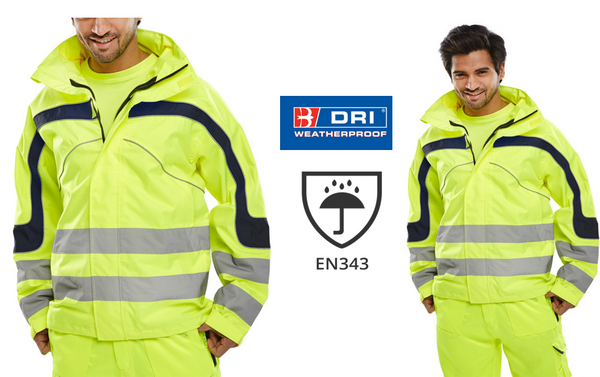 B-Seen Eton Yellow Hi-Vis Jacket