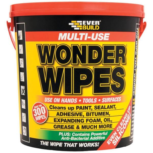Everbuild Multi-Use Giant Wonder Wipes Pack 300's