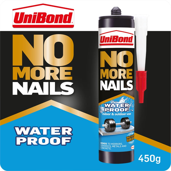 Unibond No More Nails Waterproof Adhesive Glue 450g