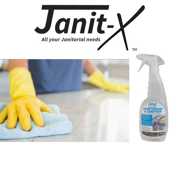 Janit-X Professional Foam Surface Cleaner & Anti-Bacterial Sanitiser 750ml