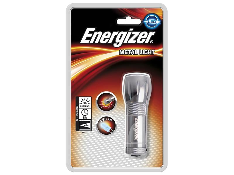 Energizer Small Metal 6 White LED Torch