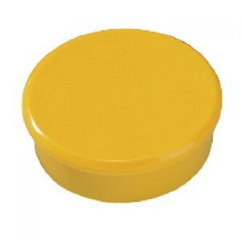 Bi-Office Yellow 10mm Round Magnets Pack 10's