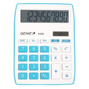 Genie 840B Desktop Calculator (Blue)