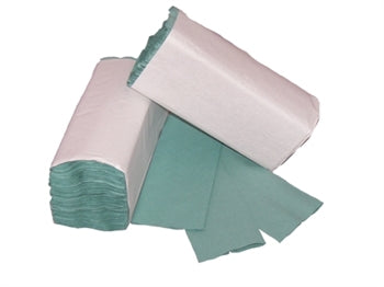 C-Fold 1 Ply Green Hand Towels 210's