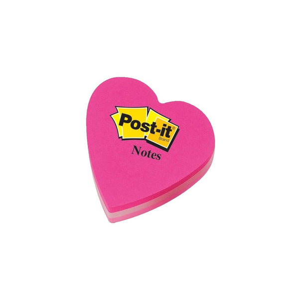 Post-it Notes Pink Heart Shaped 70x70mm 225 Sheets