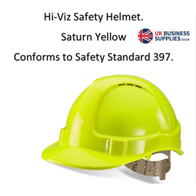 B-Brand Yellow Hi-Viz Safety Vented Shell Helmet
