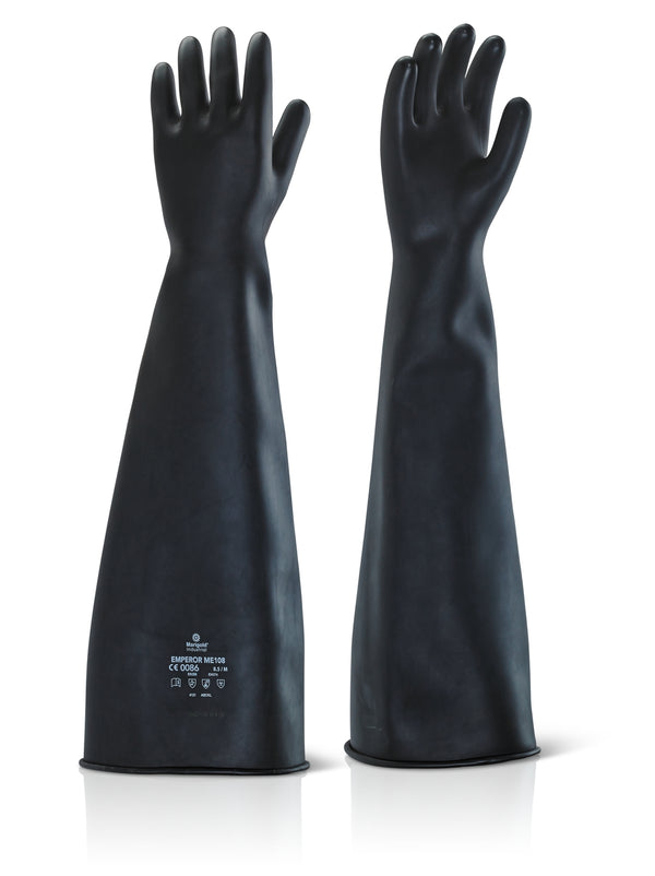 "Ansell Black 24"" Latex Rubber Gloves"
