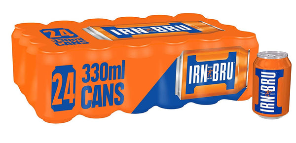 Barrs Irn Bru 330ml Cans (Pack of 24)
