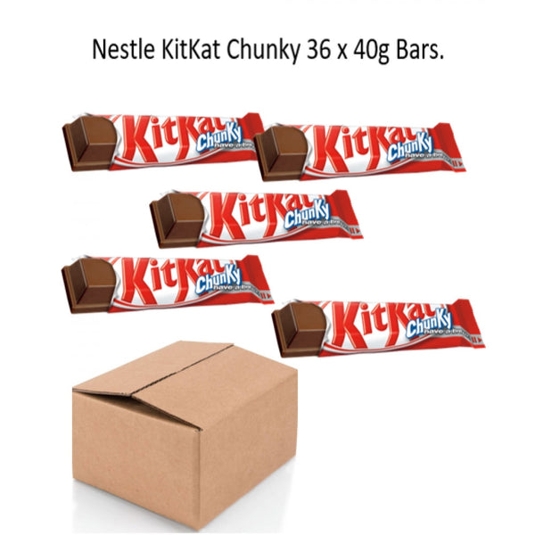 Nestle KitKat Chunky Milk Chocolate 40g Pack of 36 {Brown Box Range}