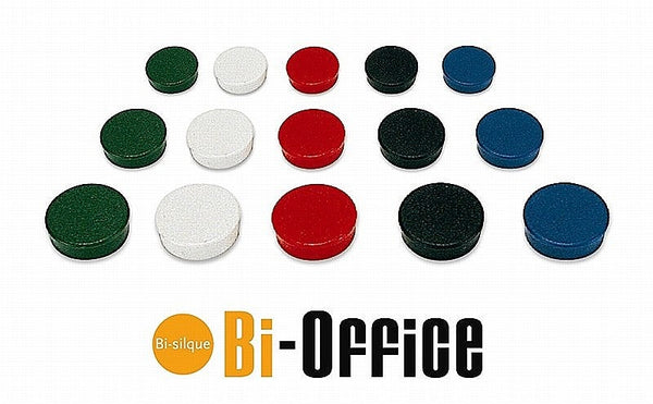 Bi-Office Assorted 30mm Round Magnets Pack 10's