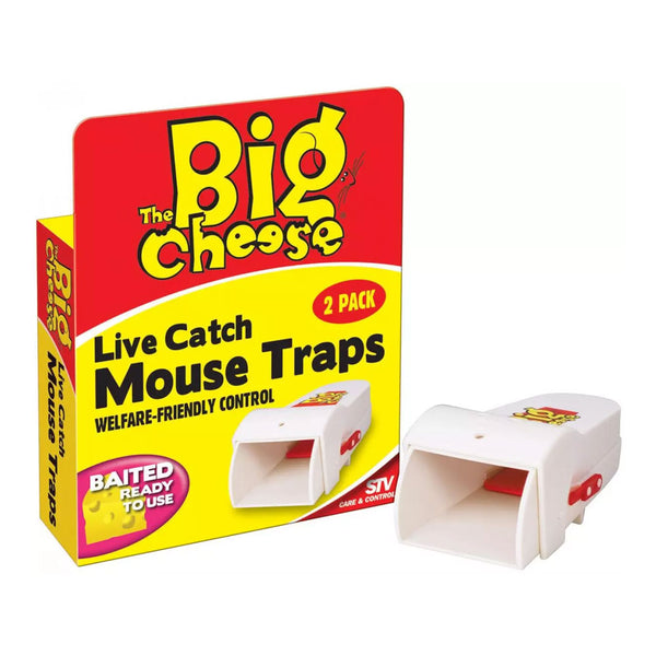 Big Cheese Live Catch Mouse Traps 2 Pack {STV155}