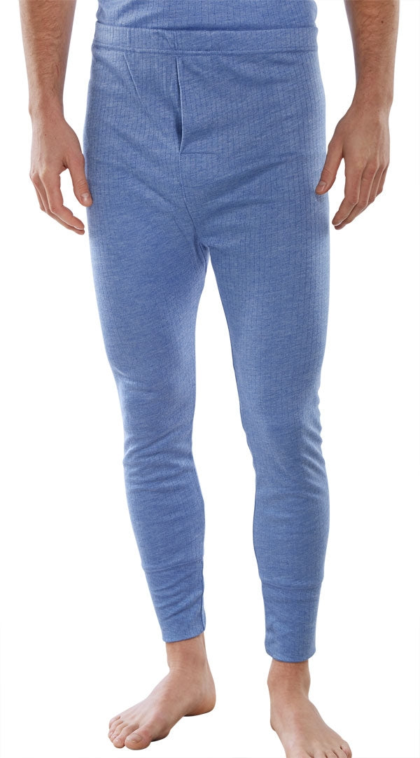 B-Click Workwear Blue Thermal Long John Trousers {All Sizes}