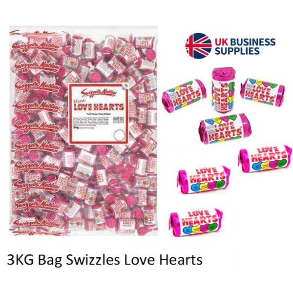 Swizzels Mini Love Hearts Rolls Sweets Bag 3kg