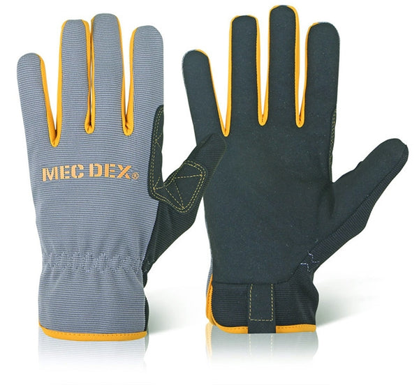 Mechanics {Mec Dex} Gloves with Stretchable spandex back hand fabric {All Sizes}