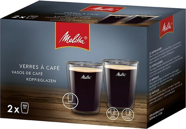 Melitta Coffee Espresso/Americano Glasses Double Walled, 0.20L {2 Pack}