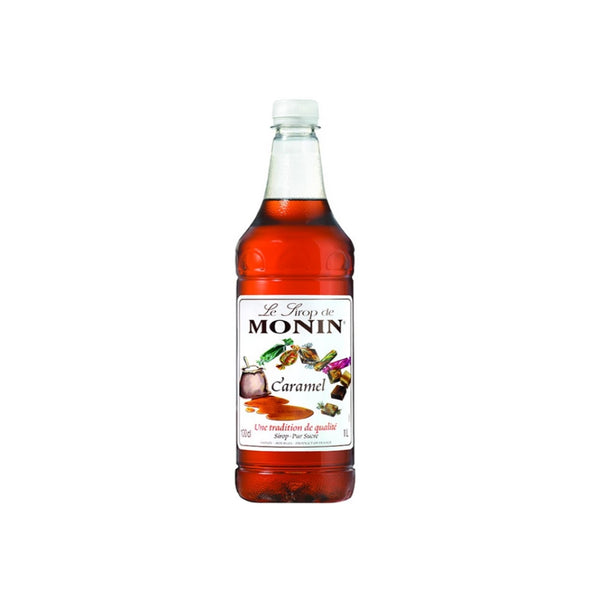 Monin Caramel Coffee Syrup 1 Litre (Plastic, Full Pack 4's)