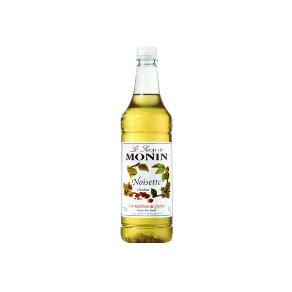 Monin Hazelnut Coffee Syrup 1 Litre (Plastic, Full Pack 4's)
