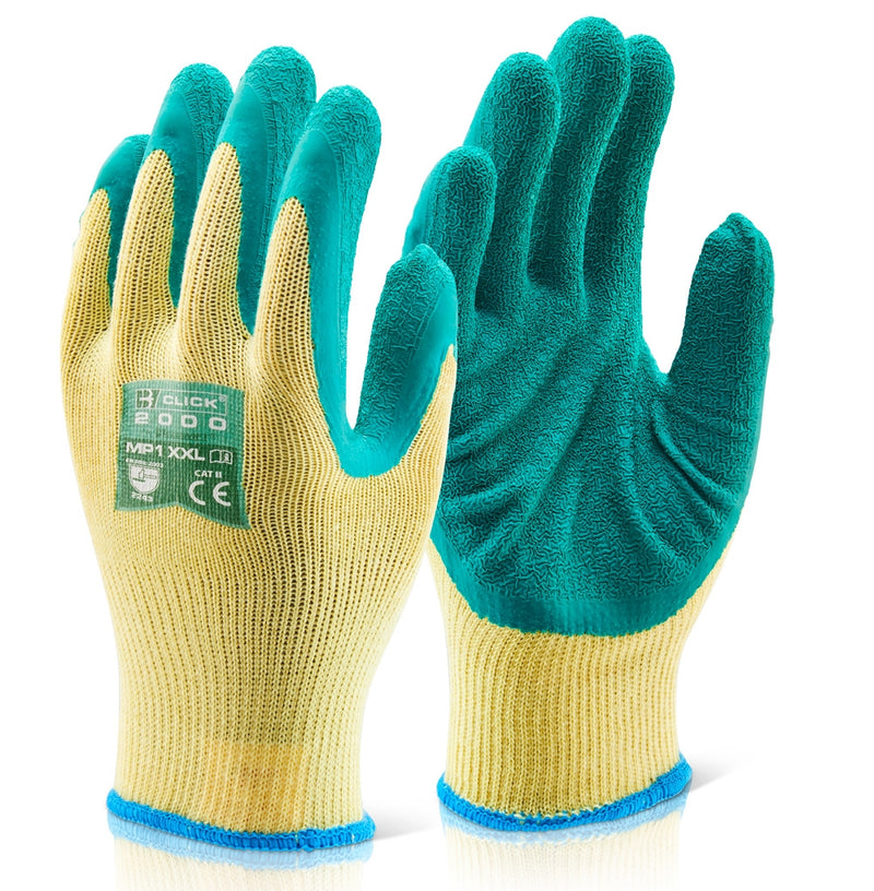 B-Click 2000 Green Latex Gloves 10's {All Sizes}