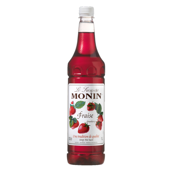 Monin Strawberry/Fraise Coffee Syrup 1 Litre (Plastic) (Full Pack 6's)