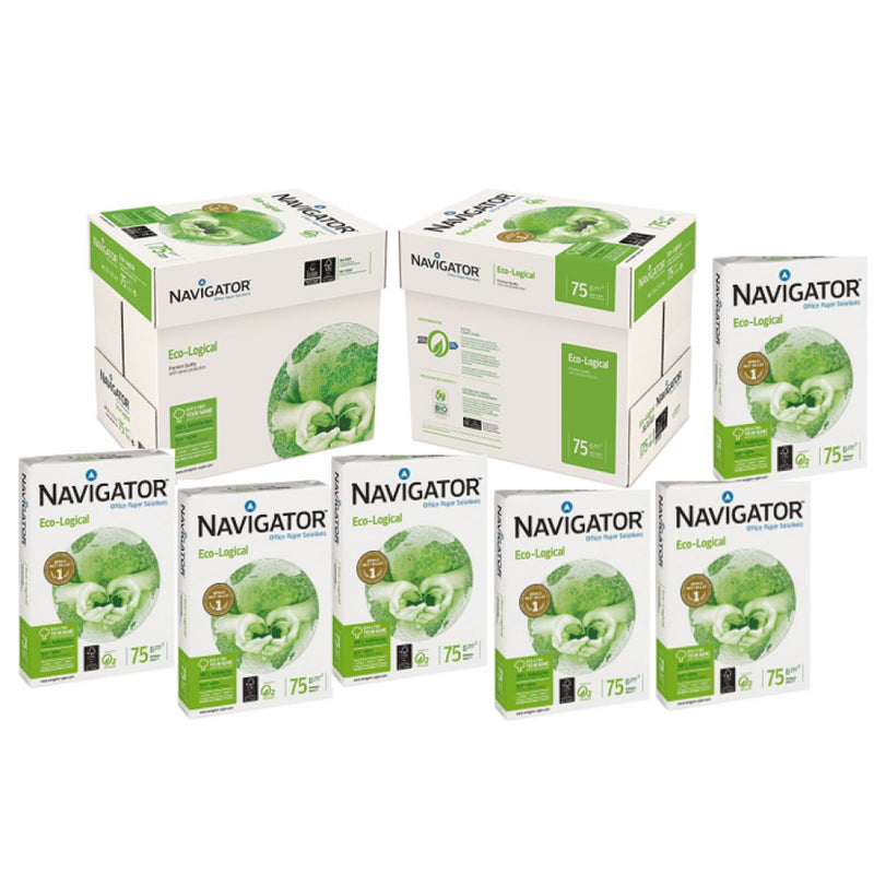 Navigator Eco-Logical Paper A4 75gsm White Ream {500 Sheets}