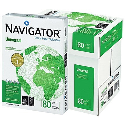 Navigator Universal Paper A4 80gsm White  5 x 500 Sheets