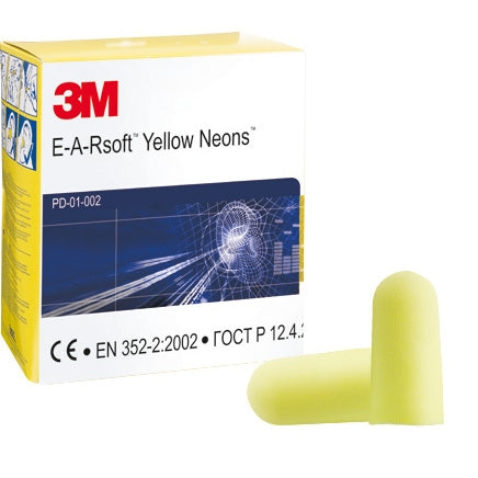 E.A.R Neons Yellow Ear Plugs Pack 250's