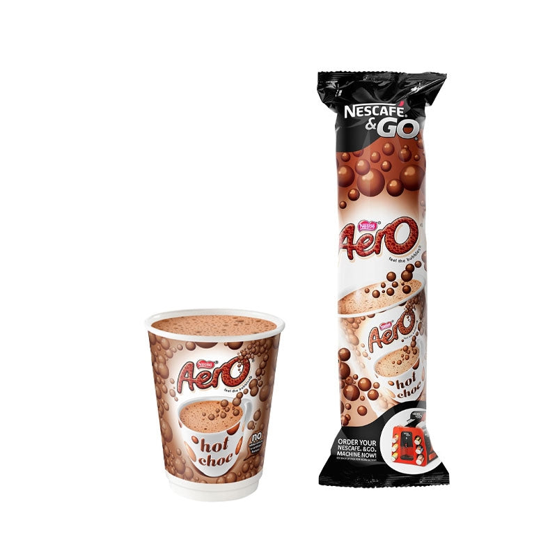 Nescafe &Go! Aero Hot Chocolate Cups 12 x 8's (12oz)
