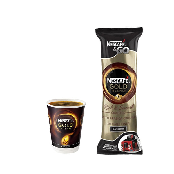Nescafe &Go! Gold Blend Black Cups 1 x 8's (12oz)