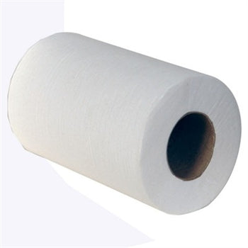 Mini Centrefeed Rolls 1ply White 12 x 120m 12 Pack