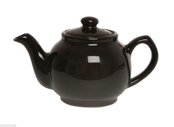Black Gloss 6 Cup Teapot (Pack of 3)